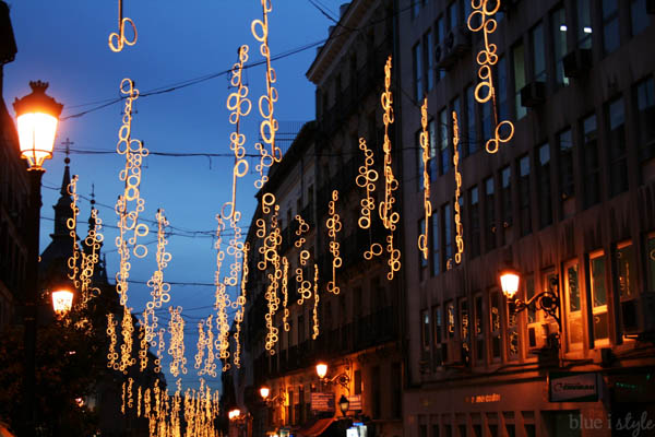 Christmas lights Madrid