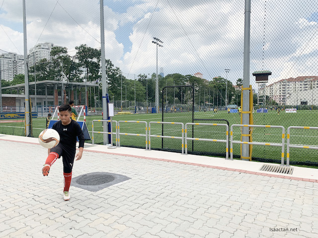 Talented kids with football