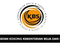 Jawatan Kosong di Kementerian Belia dan Sukan KBS - Terbuka | Tetap & Berpencen