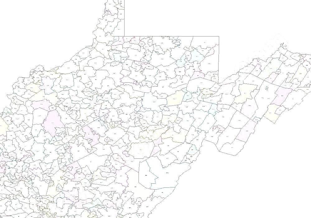 Mount Carbon West Virginia West Virginia Zip Code Map