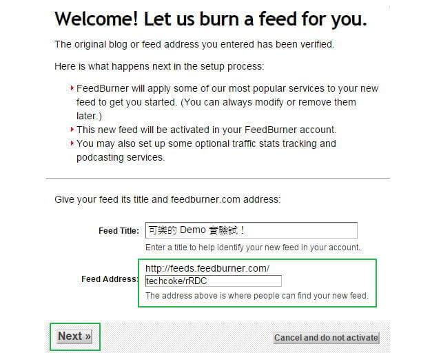 [密技] FeedBurner 將 RSS 作者前 noreply@blogger.com 改為自己的 Email 地址_103