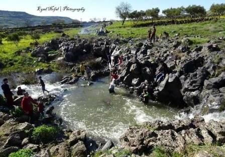 ربط عدد من الينابيع مع شبكة مياه الشرب بالسويداء