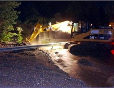 Ζημιές στο οδικό δίκτυο από το σεισμό