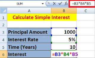 How to Calculate Simple Interest and Compound Interest in Excel