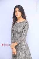 Actress Chandini Chowdary Pos in Short Dress at Howrah Bridge Movie Press Meet  0086.JPG