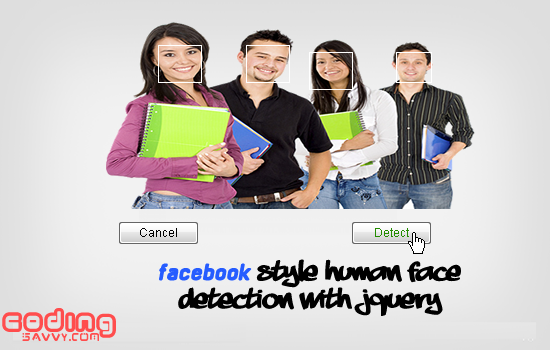 Detect faces in Pictures (Facebook Style) using JQuery