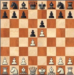 XVI Campeonato Femenino de Catalunya 1959, partida de ajedrez Maria Luïsa Puget - Pepita Ferrer, posición después de 3.e5
