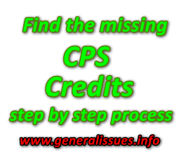 How to find CPS missing credits step by step process