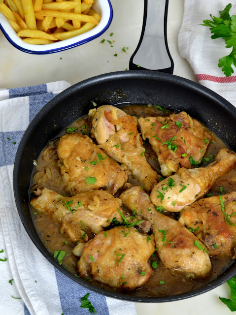 Pollo a la cerveza, en 30 minutos