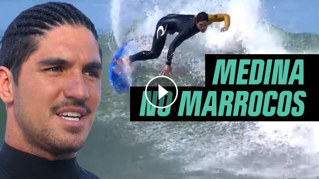 Gabriel Medina surfa pela primeira vez no Marrocos Mundo Medina Canal OFF