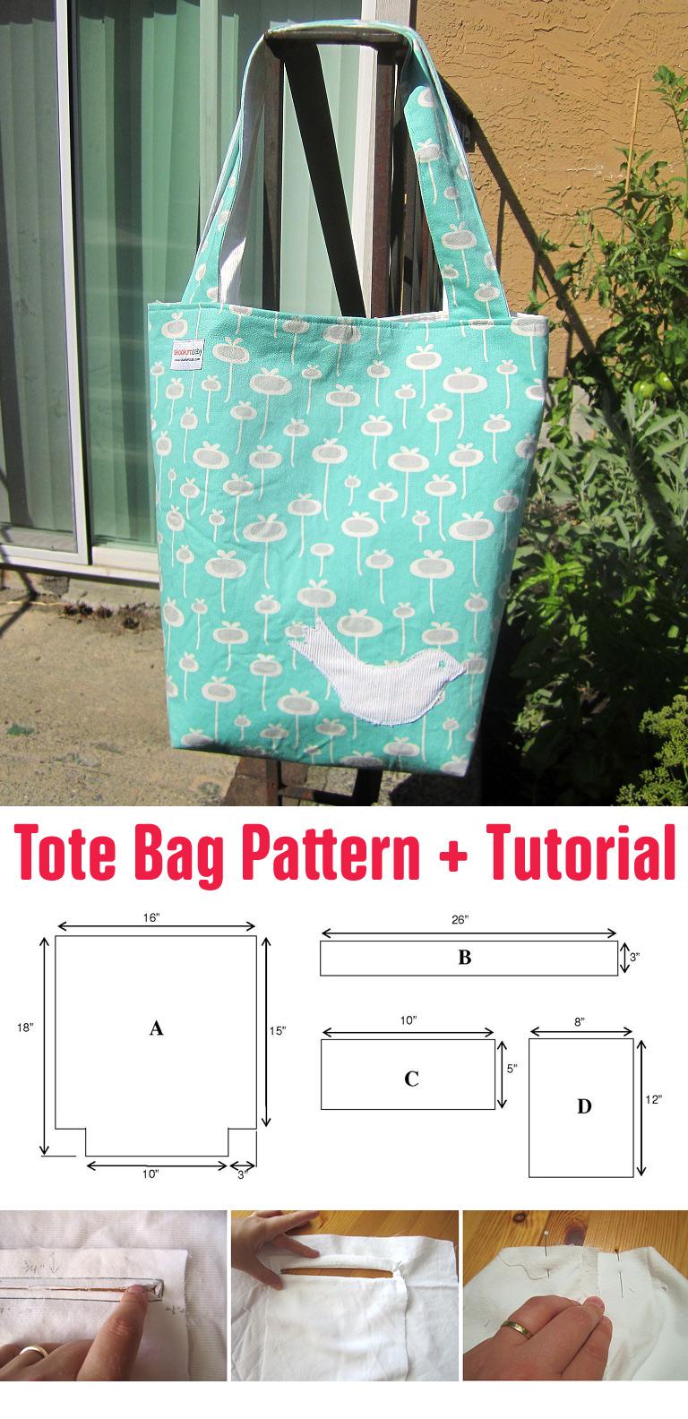 Tote Bag Pattern + Tutorial