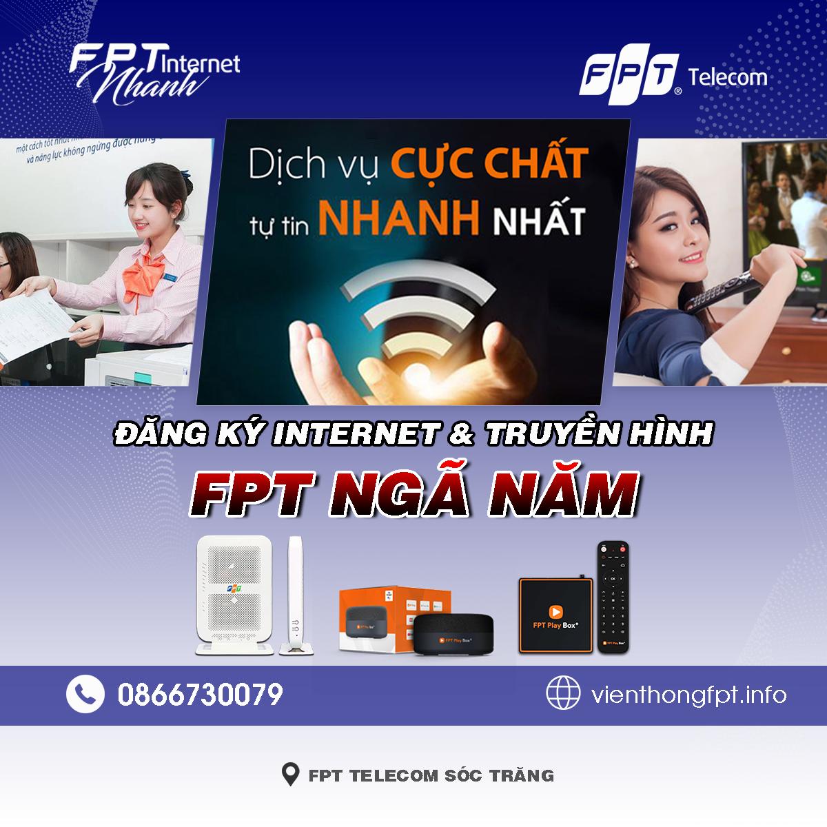 Tổng đài FPT Ngã Năm - Đơn vị lắp mạng Internet và Truyền hình FPT