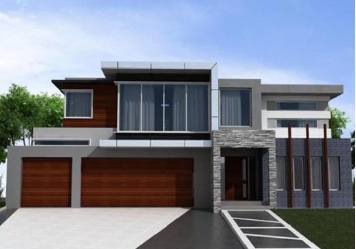 gambar rumah minimalis abu abu terbaru keren kumpulan