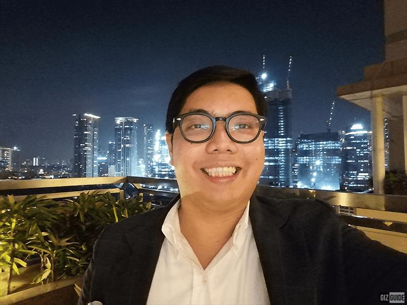 Y9 Prime's low-light selfie