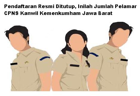 Pendaftaran Resmi Ditutup, Inilah Jumlah Pelamar CPNS Kanwil Kemenkumham Jawa Barat Tahun Anggaran 2019
