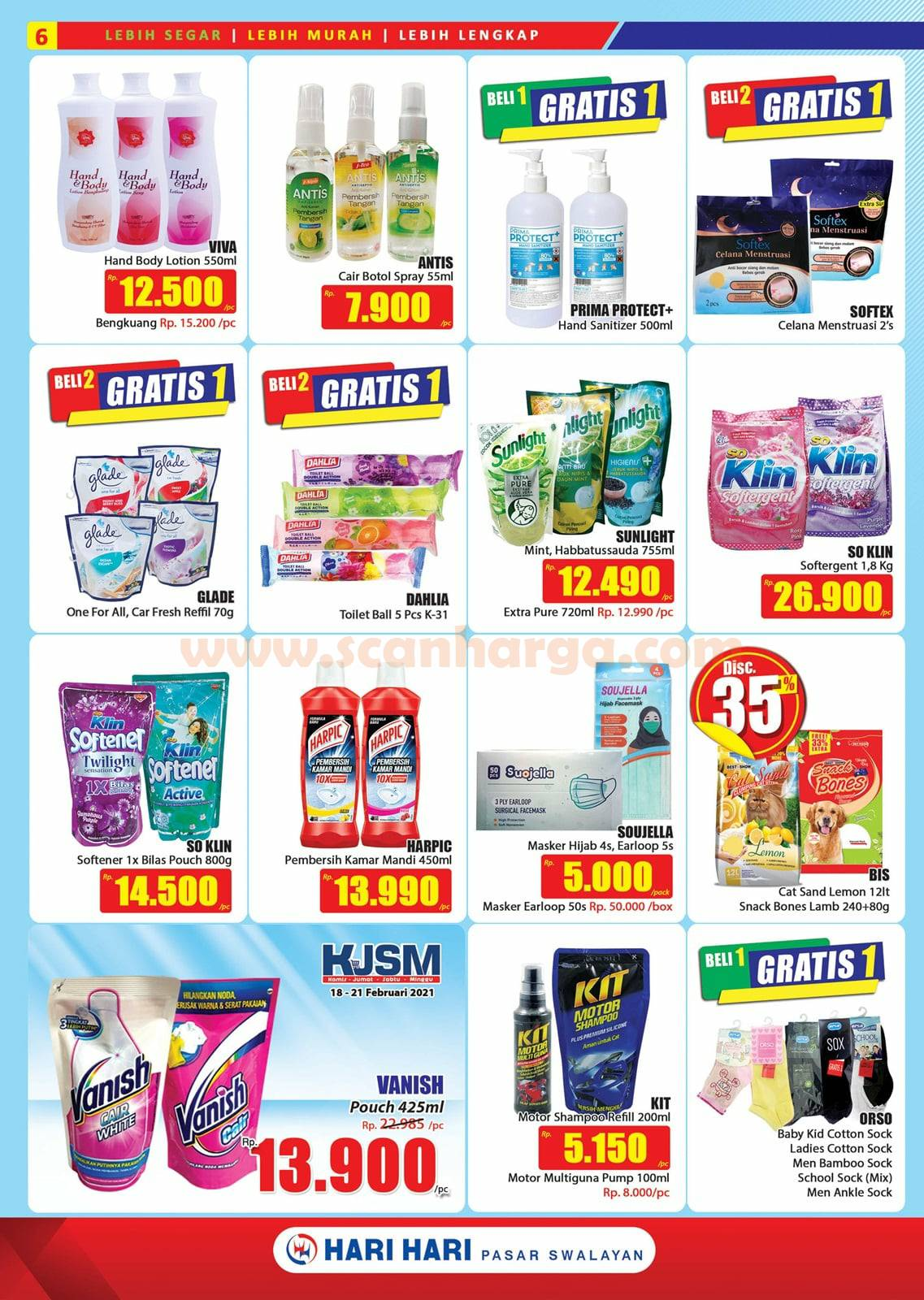 Katalog Promo Hari Hari Pasar Swalayan 18 Februari - 3 Maret 2021 6
