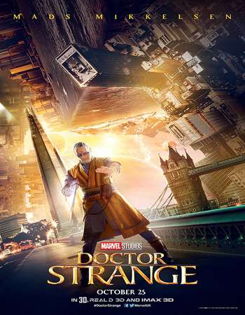 Poster Of Doctor Strange 2016 Dual Audio 750MB DVDScr [Hindi - English] Free Download Watch Online downloadhub.in