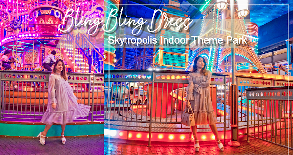 Bling Bling Dress #SharonOOTD at Skytropolis Indoor Theme Park