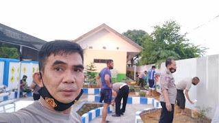 Kasat Lantas Polres Gowa Pimpin Proses Finishing Pembuatan Taman Lalu Lintas