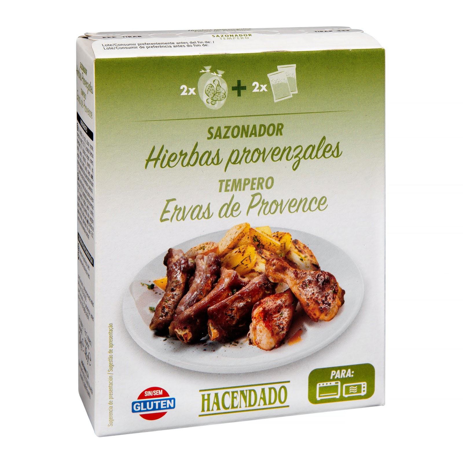 Sazonador con bolsa para carne sabor hierbas provenzales Hacendado