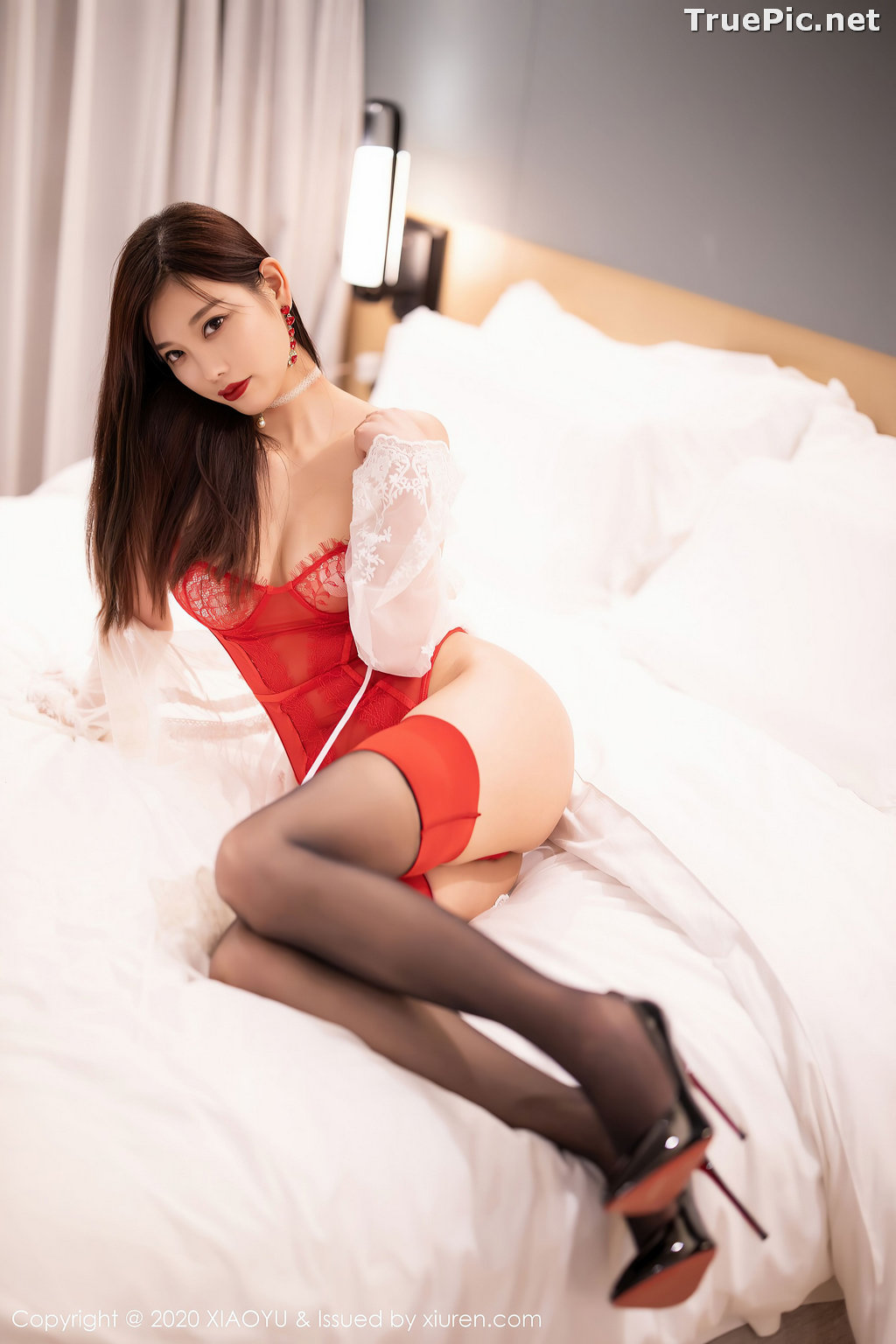 Image XiaoYu Vol.413 - Chinese Model - Yang Chen Chen (杨晨晨sugar)- Red Crystal-clear Lingerie - TruePic.net - Picture-29