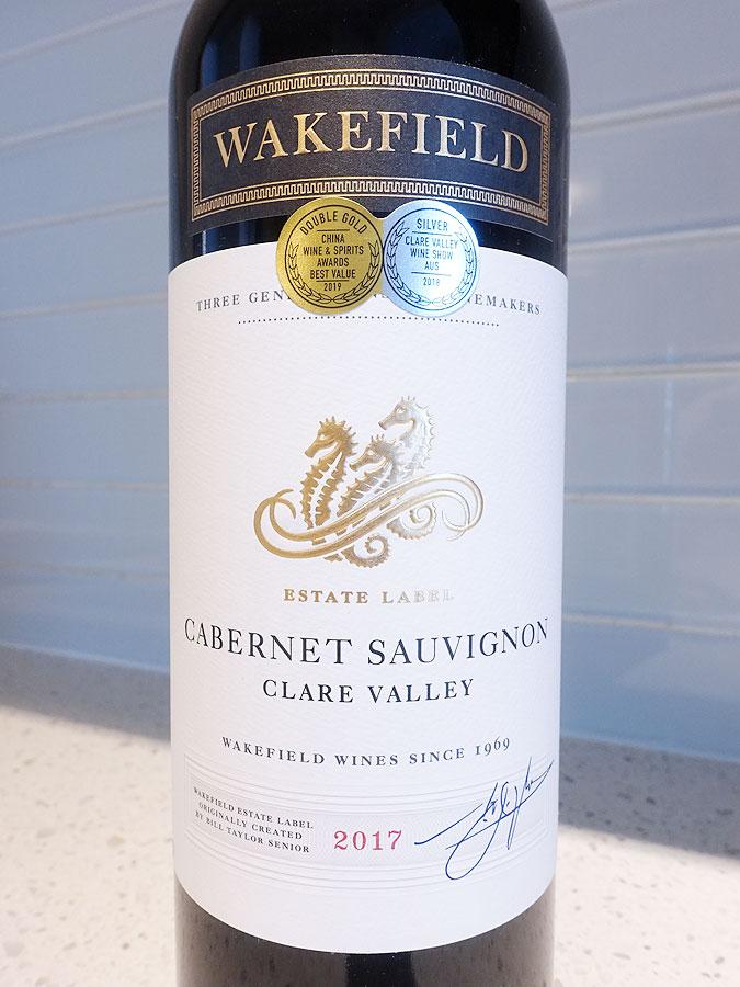 Wakefield Estate Cabernet Sauvignon 2017 (88 pts)