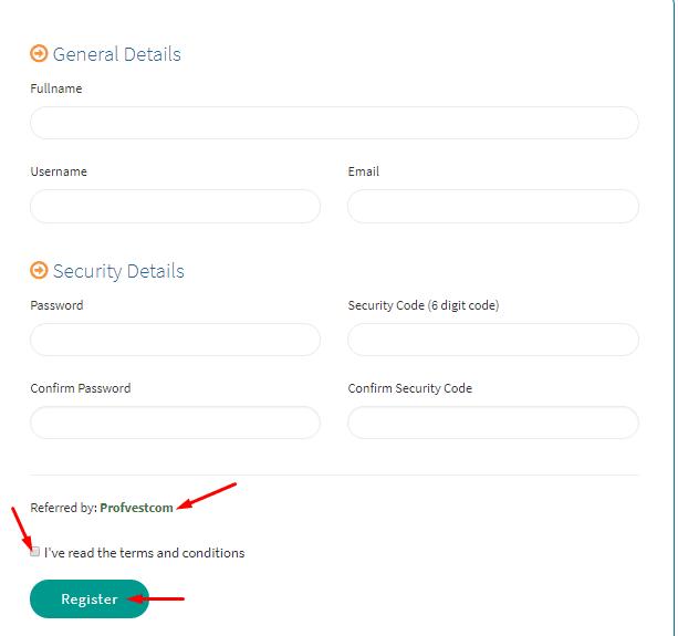 Регистрация в Bitwaves 2