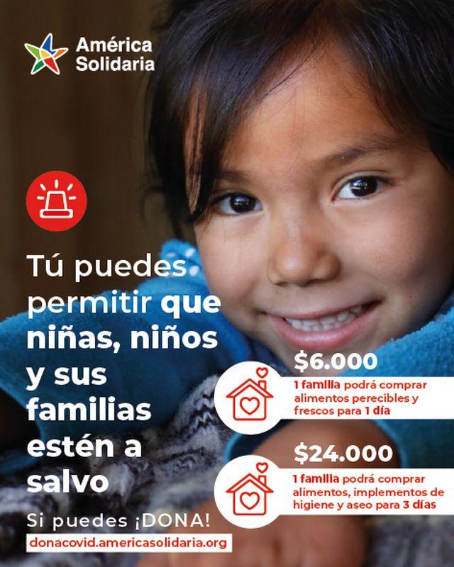 América Solidaria lanza su campaña de emergencia para niños y niñas en cuarentena