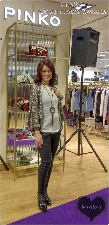 presentación de Pinko en El Corte Inglés de Bilbao, marca de moda