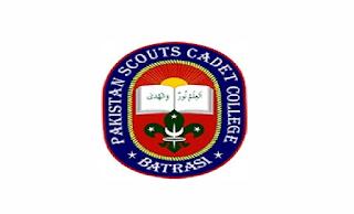 Pakistan Scouts Cadet College Batrasi Mansehra Jobs 2021 in Pakistan