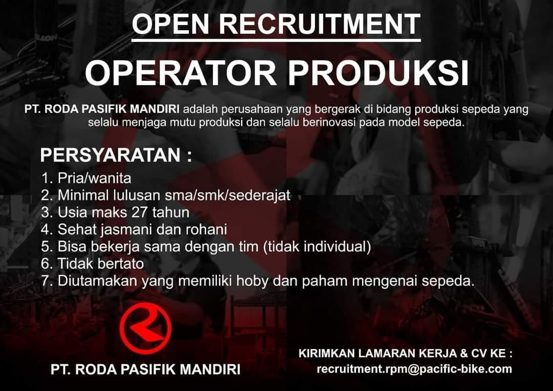 Loker Operator Produksi PT Roda Pasifik Mandiri Semarang