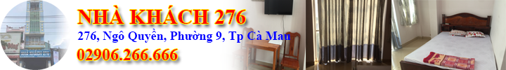 Nhà khách 276 Cà Mau