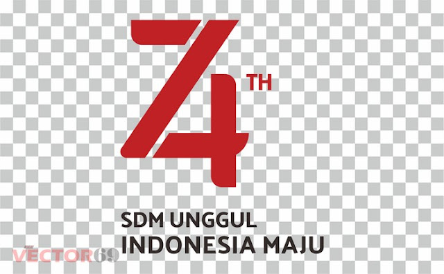 Logo HUT RI ke 74 Tahun 2019 SDM Unggul, Indonesia Maju - Download Vector File PNG (Portable Network Graphics)