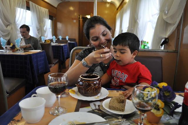 vagões-restaurante dos trens transiberianos