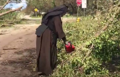 Hurricane Nun chainsaw