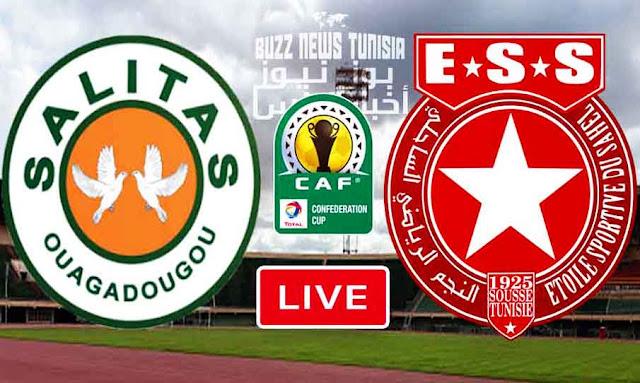 بث مباشر مباراة ساليتاس البوركيني و النجم الرياضي الساحلي في كأس الكونفيدرالية الإفريقية