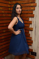 Radhika Mehrotra in a Deep neck Sleeveless Blue Dress at Mirchi Music Awards South 2017 ~  Exclusive Celebrities Galleries 040.jpg