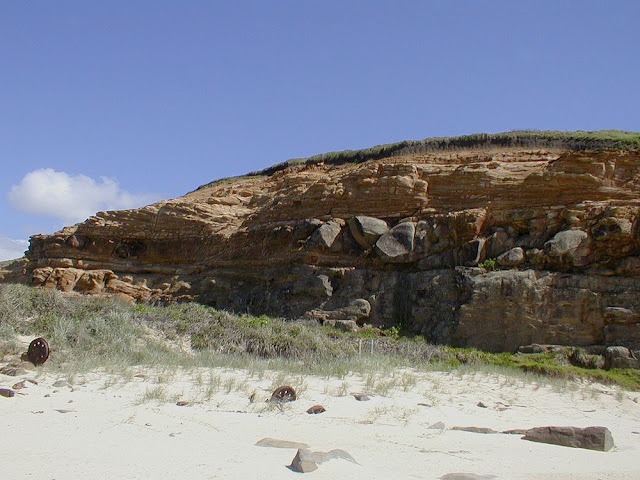 Geology on the beach, Iluka, New South Wales, Australia. Photo by Loire Valley Time Travel.