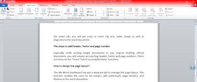 Microsoft word - Page Layout