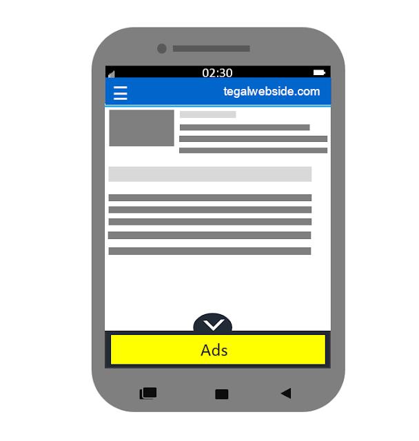 Cara Membuat Iklan Adsense Melayang di Bawah Postingan Blog