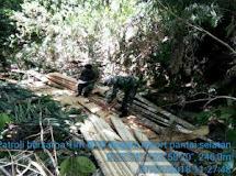 Cegah Ilegal Logging Diwilayahnya, Babinsa Bolaang Uki Bersama Anggota BTN Laksanakan Patroli Bersama