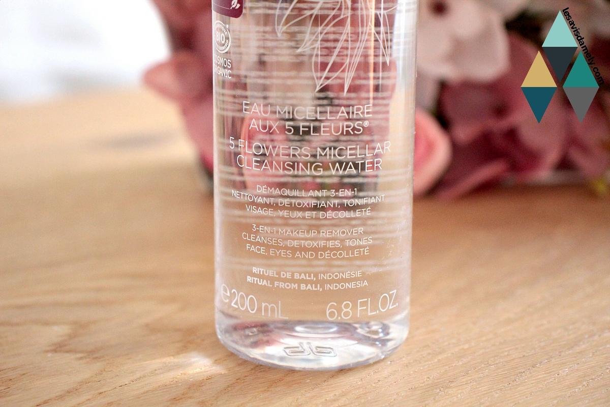 revue eau micellaire aux 5 fleurs bali cinq mondes