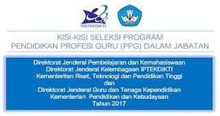Kisi-kisi Soal Materi Profesional Seleksi Program PPG dalam Jabatan