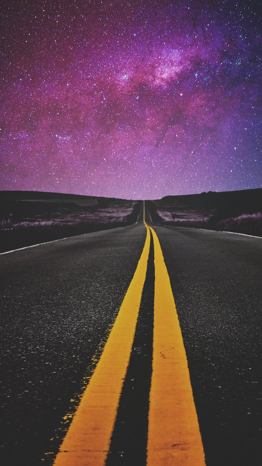 Road in the night by matialonsor