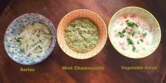 images of Sarlas Recipe / Challas Recipe / Mint Chammanthi / Biriyani Chammanthi / Vegetable Salad For Biriyani / Kerala Onion Salad / Biriyani Side Dish Recipe / Malabar Special  Biriyani Side Dish / Side Dish For Biriyani