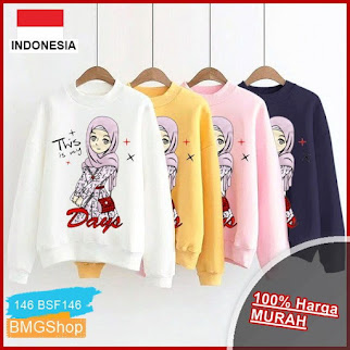 BSF146 Sweater Wanita Lengan Panjang Days BMGShop