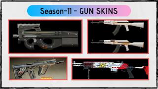 PUBG Mobile Season-11 Gun Skins