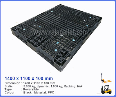 Pallet Plastik Bekas 1400 x 1100 x 100 mm