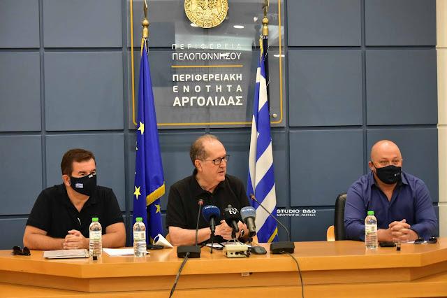 Συμβάσεις για σημαντικά έργα στην Αργολίδα υπέγραψε στο Ναύπλιο ο Περιφερειάρχης
