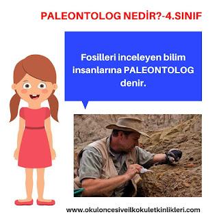 Fosili araştıran bilim insanına ne denir?